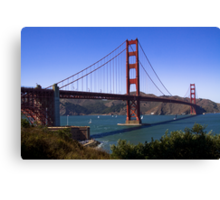 Golden Gates north and south towers Canvas Print