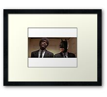 Pulp Fiction - It's Better With Batman Framed Print