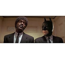 Pulp Fiction - It's Better With Batman Photographic Print