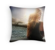 CHOPPY SEAS Throw Pillow