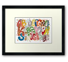 Party Alphabet Framed Print