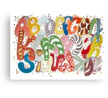 Party Alphabet Canvas Print