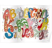 Party Alphabet Poster