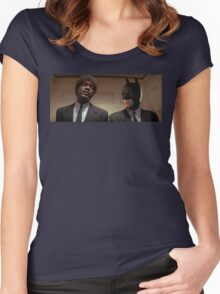 Pulp Fiction - It's Better With Batman Women's Fitted Scoop T-Shirt