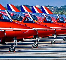 RED ARROWS IN MALTA by Edwin  Catania