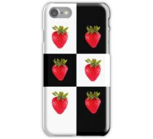Strawberries (on checkered white & black) Cover For the Apple iPhone  iPhone Case/Skin