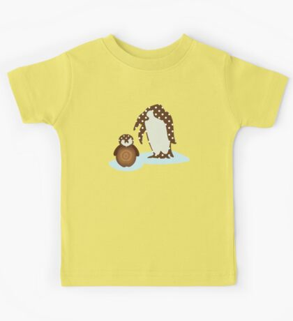Father and Baby Penguin Kids Tee