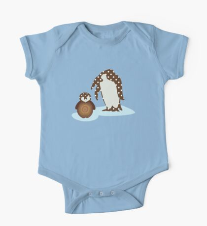 Father and Baby Penguin One Piece - Short Sleeve