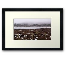 Snow on the lake 3 Framed Print