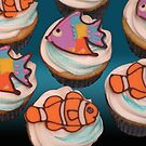 fishy cupcakes by tali