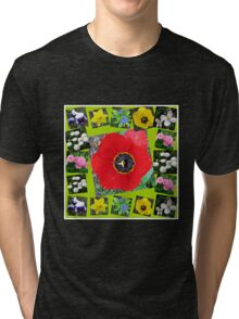 Spring Has Sprung Collage Tri-blend T-Shirt