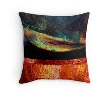 red ancient surfaces...6th phase Throw Pillow