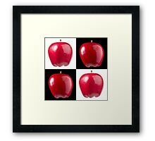 White & Black - Red Apples Framed Print