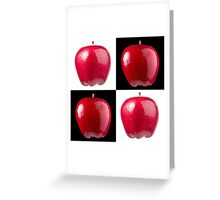 White & Black - Red Apples Greeting Card