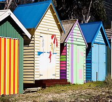 Mornington Peninsula - boat sheds by Rosina  Lamberti