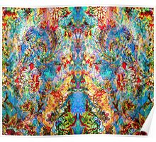 Colorful Rustic Floral Collage Poster