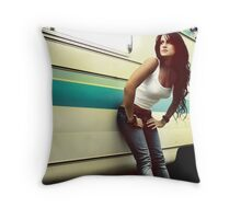 Waiting for the surf Throw Pillow