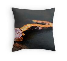 """george"" the Taniwha Throw Pillow"