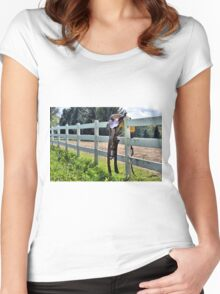 Saddle on the Fence Women's Fitted Scoop T-Shirt