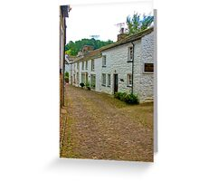 On The Cobbles - Village Street Greeting Card