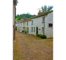 On The Cobbles - Village Street Photographic Print