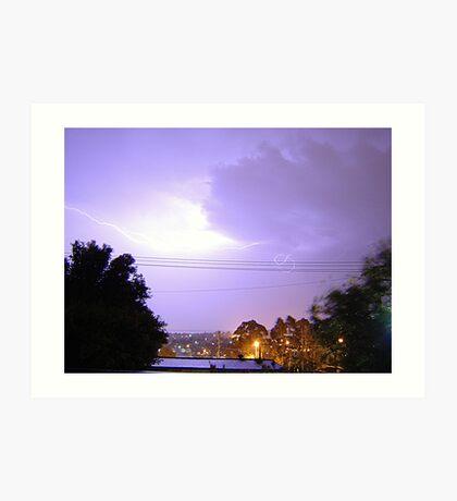 Purple Storm & Lightning Art Print