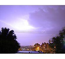 Purple Storm & Lightning Photographic Print