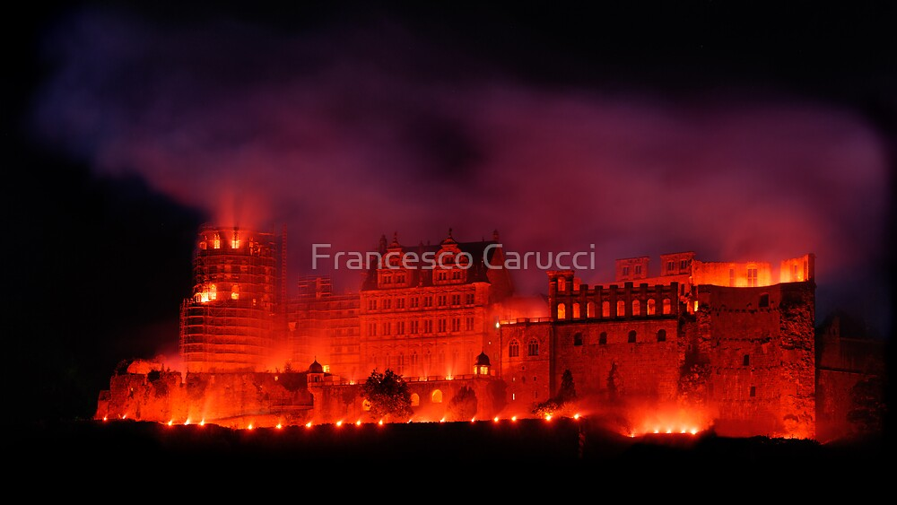 Flaming Castle by Francesco Carucci