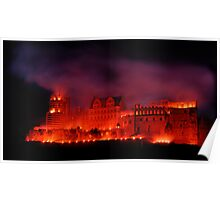 Flaming Castle Poster