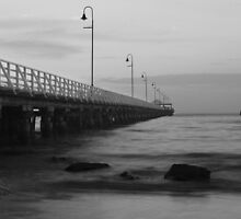 Shorncliffe Pier BW by gmpepprell