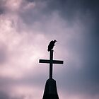 Buzzard on the Cross.....creepy by AlixCollins