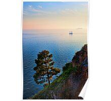 Schooner on the Amalfi Coast Poster
