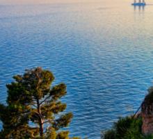 Schooner on the Amalfi Coast Sticker
