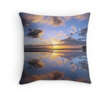 Nudgee Beach sunrise Throw Pillow
