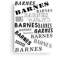 Barnes Surname Design Canvas Print