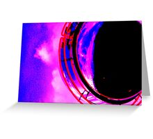Abstract red magenta black blue Greeting Card