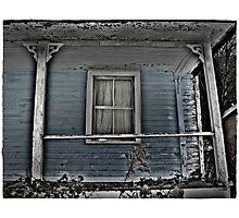 Peeling Blue? Photographic Print