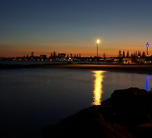 Sunset over Forster/Tuncurry by UncaDeej