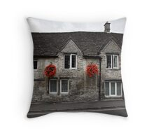 Grey and Red Throw Pillow