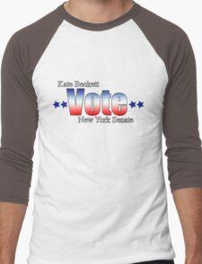Kate Beckett for NY state Senate Men's Baseball ¾ T-Shirt