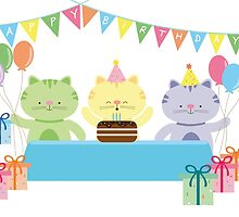 Happy Cat Birthday! by julianamotzko