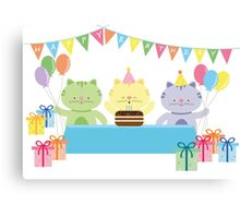 Happy Cat Birthday! Canvas Print