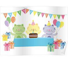 Happy Cat Birthday! Poster