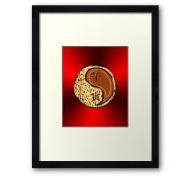 Aries & Tiger Yang Wood Framed Print