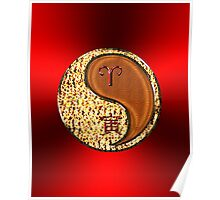 Aries & Tiger Yang Wood Poster