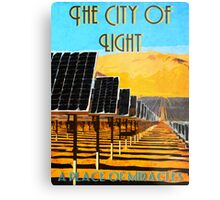 The 100 - Vintage Travel Poster (The City of Light) Metal Print