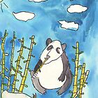 Panda Watercolor by Paula Parker