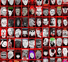 Faces of Horror Collage art by gjnilespop