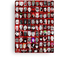 Faces of Horror Collage art Canvas Print