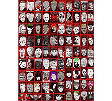 Faces of Horror Collage art Photographic Print